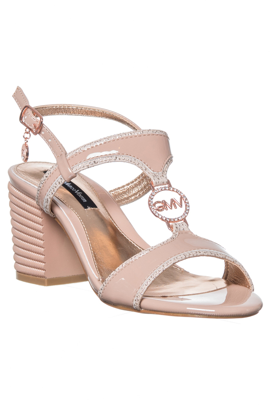 high heels sandals GianMarco Venturi high heels sandals apricot suede ankle strap zipper back high heel sandals