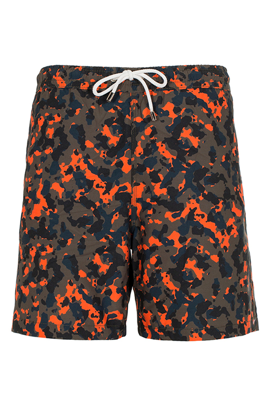 swim shorts JIMMY SANDERS swim shorts pom pom trim tropical swim cover up shorts