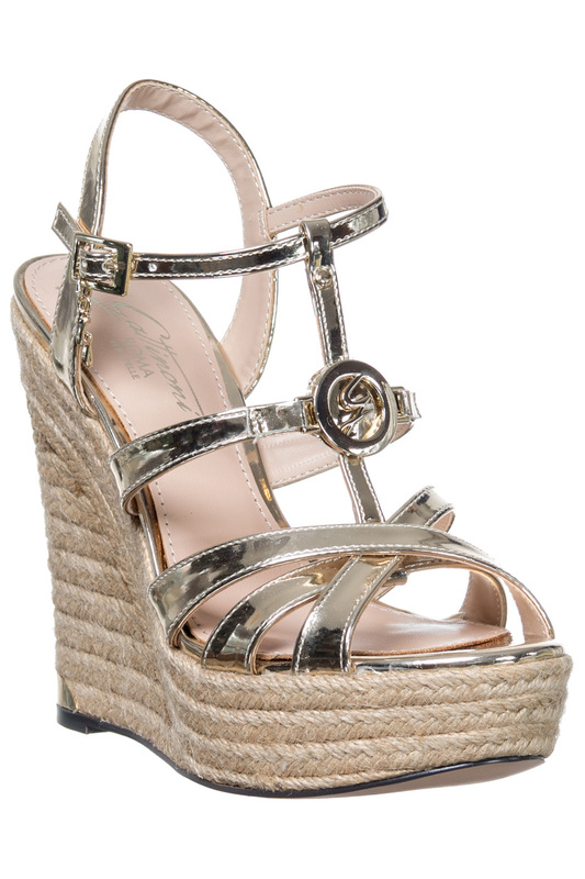 platform sandals Gattinoni platform sandals полуприлегающая рубашка с застежкой на пуговицы gloss