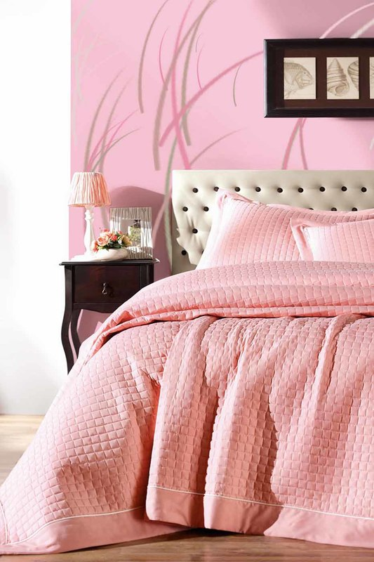 single quilted bedspread set Cotton box single quilted bedspread set retro chains velour quilted bag