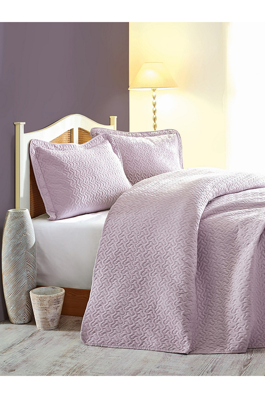 double quilted bedspread set Cotton box double quilted bedspread set