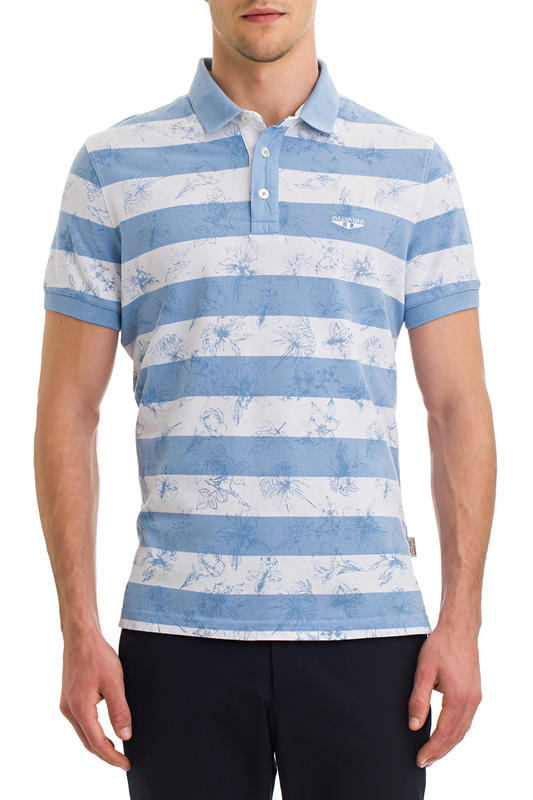 polo t-shirt Galvanni polo t-shirt multi stripe t shirt