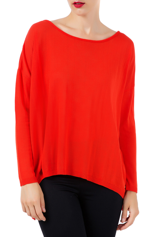 jumper Conquista jumper double v neck fluted sleeve jumper