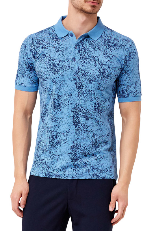 polo t-shirt ADZE polo t-shirt tiered flower embroidery t shirt
