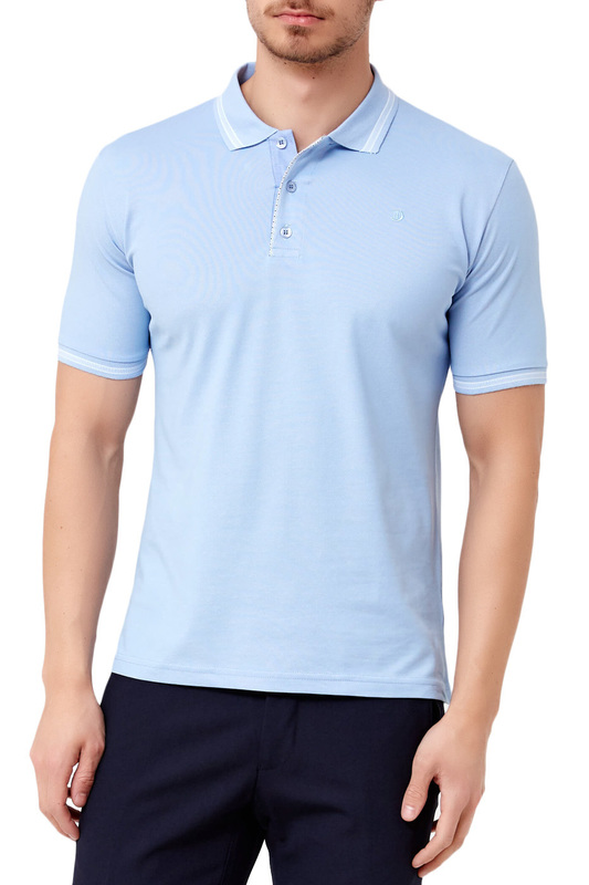 polo t-shirt ADZE polo t-shirt embroidered patched polo shirt