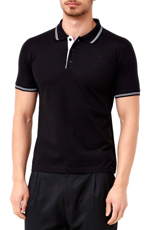 polo t-shirt ADZE polo t-shirt multi stripe t shirt