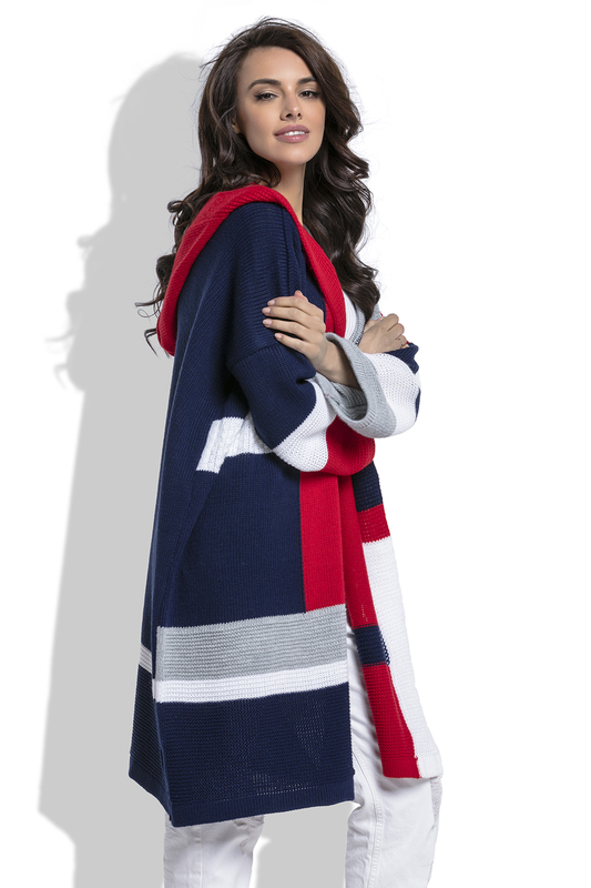Купить CARDIGAN FOBYA, DARK BLUE, red