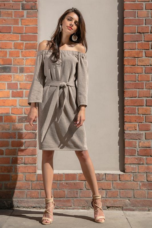 Купить Dress FOBYA, Light brown