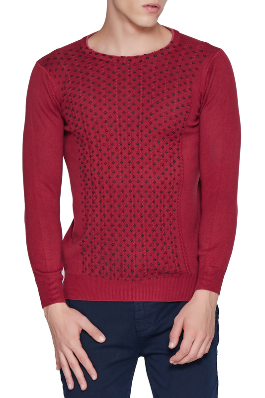 jumper ADZE jumper double v neck fluted sleeve jumper