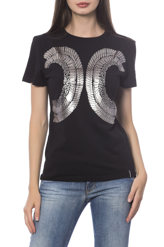 Фото - T-shirt Roberto Cavalli Sport T-shirt color block drop shoulder high low t shirt