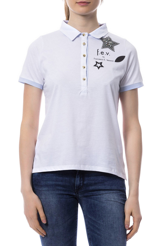 polo t-shirt F.E.V. by Francesca E. Versace polo t-shirt t by alexander wang классические брюки