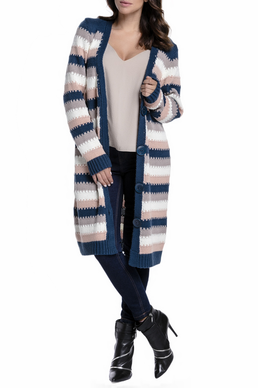 Купить Cardigan FIMFI, Dark blue, white, pink