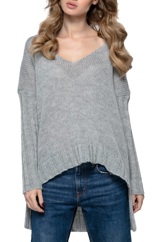 jumper FIMFI jumper cold shoulder basket weave jumper
