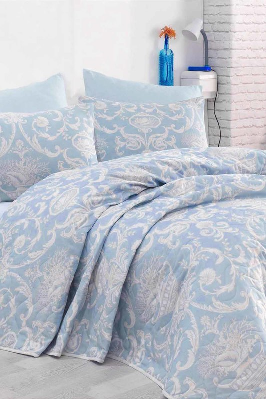Single Quilted Bedspread Set ENLORA HOME Single Quilted Bedspread Set retro chains velour quilted bag