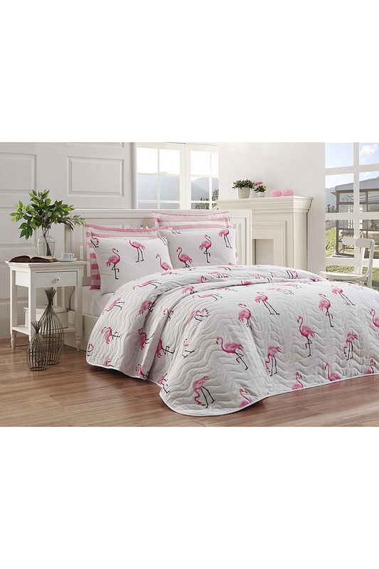 Double Quilted Bedspread Set ENLORA HOME Double Quilted Bedspread Set