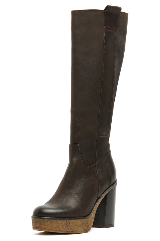 high boots Manas high boots side zipper pu thigh high boots