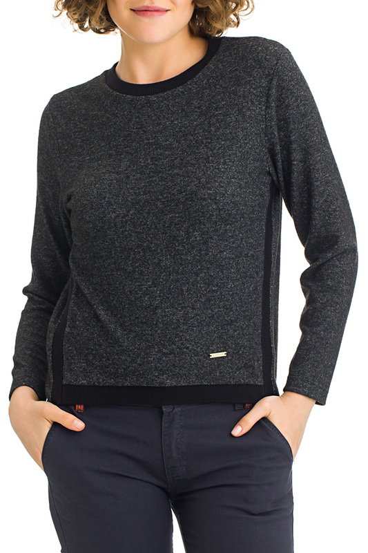 jumper Galvanni jumper plus grommet crisscross plunging neck jumper