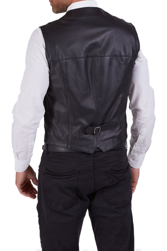 leather vest AD MILANO leather vest