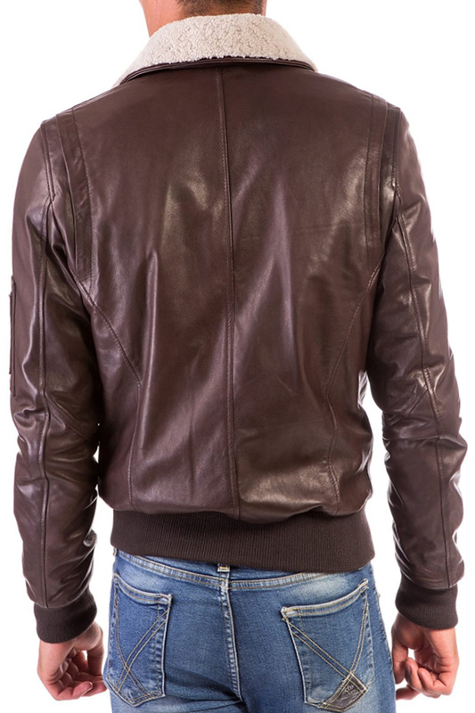 leather jacket AD MILANO leather jacket