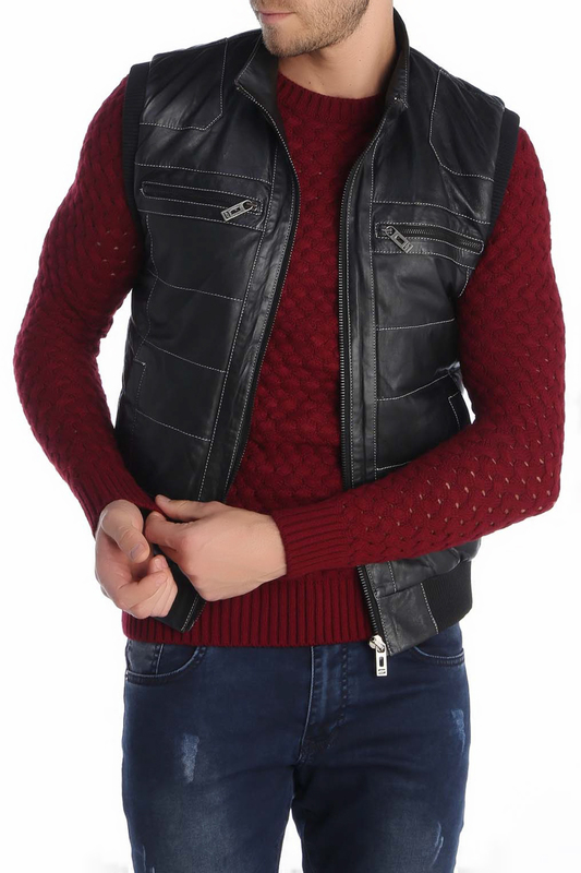 Leather Vest GIORGIO DI MARE Leather Vest leather giorgio brato leather