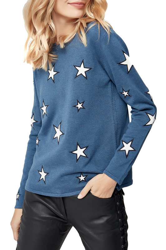 pullover MANODE pullover grey embroidered pullover sports hoodies