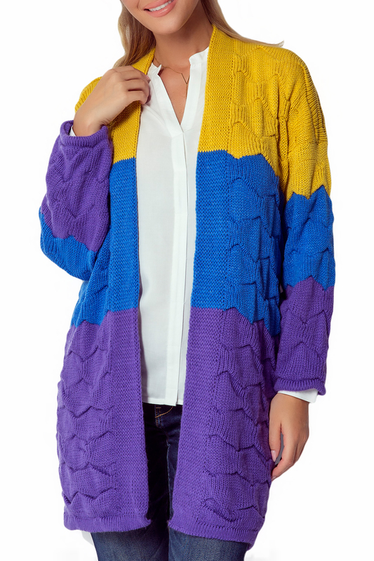 Купить Cardigan FIMFI, Yellow, blue, purple