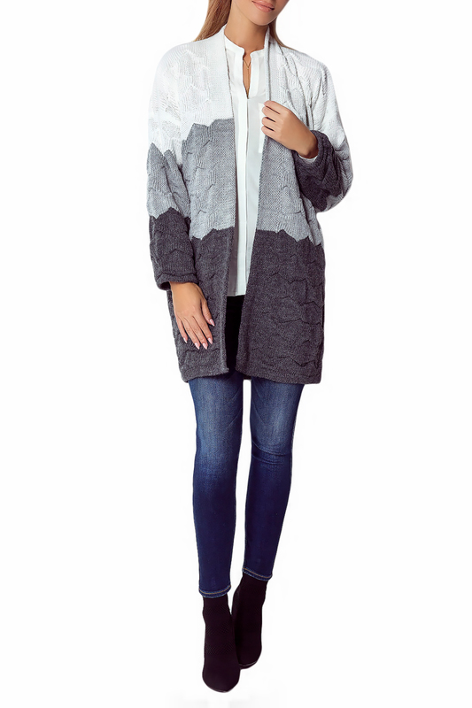 Купить Cardigan FIMFI, White, gray, dark gray