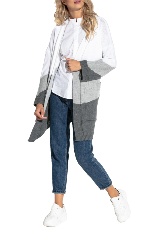 Купить Cardigan FOBYA, White, gray