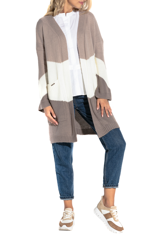 Купить Cardigan FOBYA, Brown, white