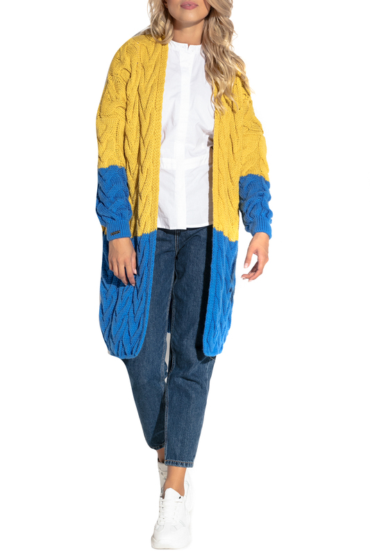 Купить Cardigan FOBYA, Yellow, blue