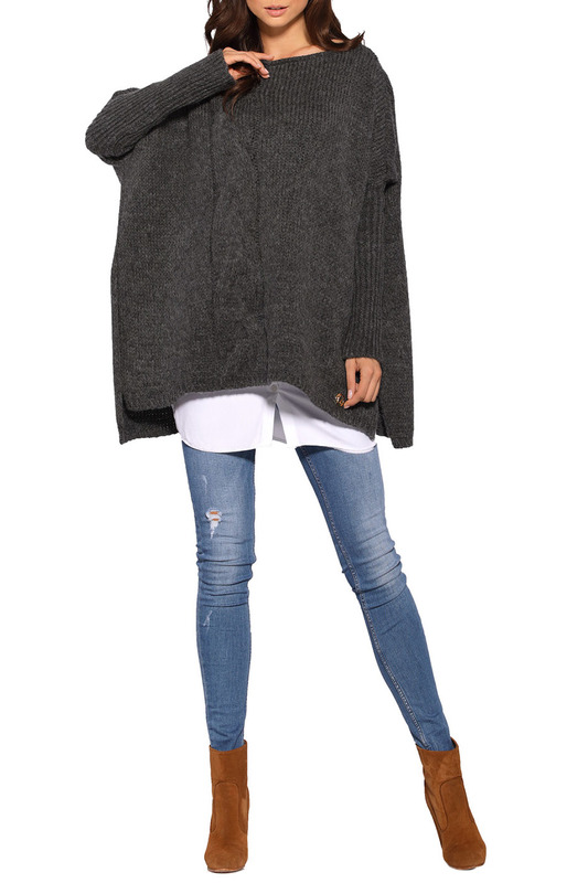 Купить SWEATER LEMONIADE цвет dark gray