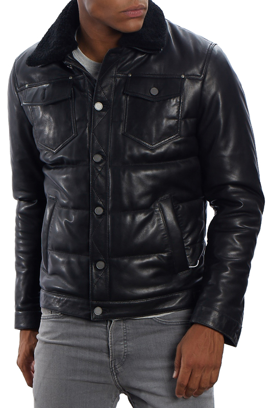 Купить Leather jacket MIO CALVINO, Black