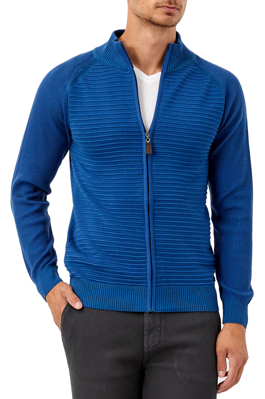 cardigan ADZE cardigan zip up jaquard sweater cardigan