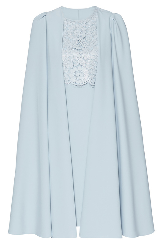 dress and cape Gina Bacconi dress and cape lace up patchwork batwing cape blouse