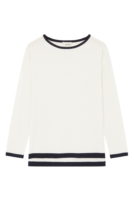 Pullover RODIER Pullover color block fuzzy sleeve pullover
