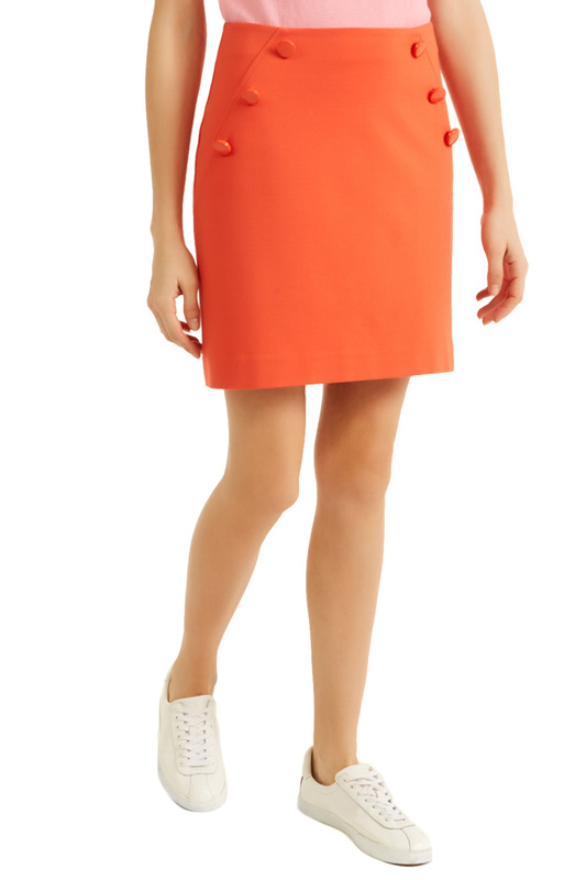 Skirt RODIER Skirt knot front zip up back skirt