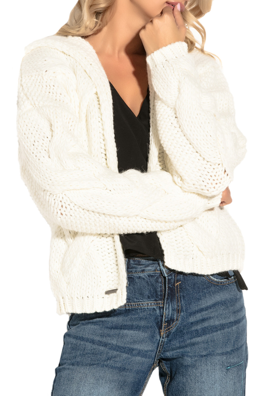 CARDIGAN FOBYA CARDIGAN zip up jaquard sweater cardigan