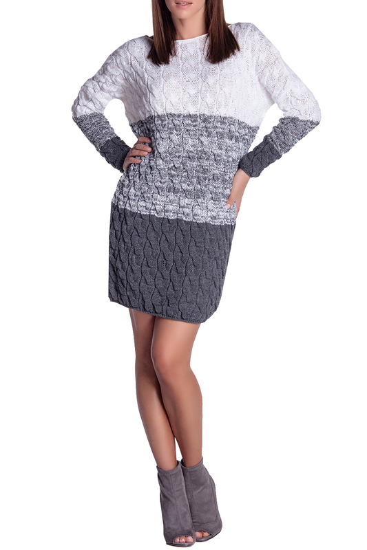 Купить Dress FIMFI, White, gray