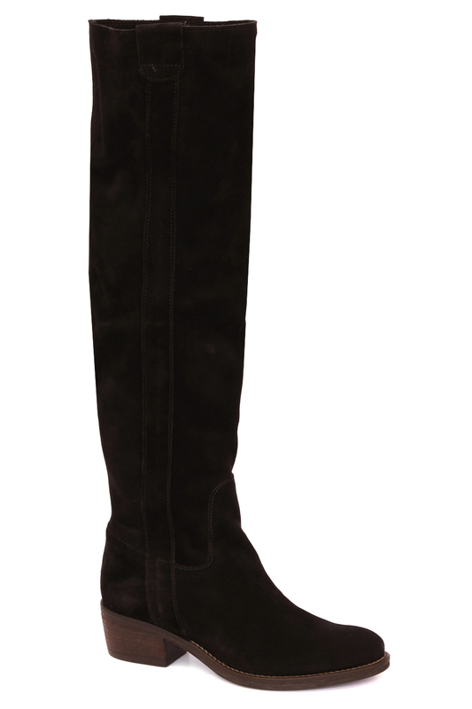 high boots Elena high boots side zipper pu thigh high boots