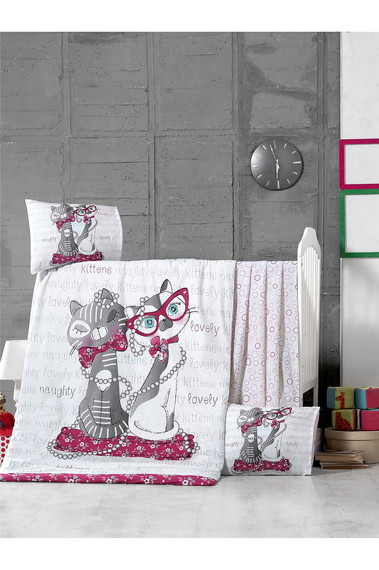 Baby Quilt Cover Set Victoria Baby Quilt Cover Set