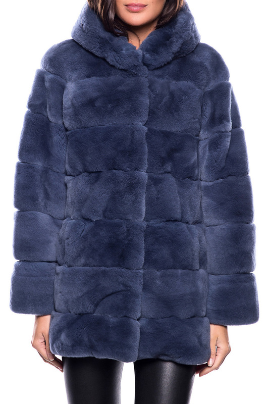 Fur coat Giorgio Fur coat 2014 rabbit skin double color fur coat