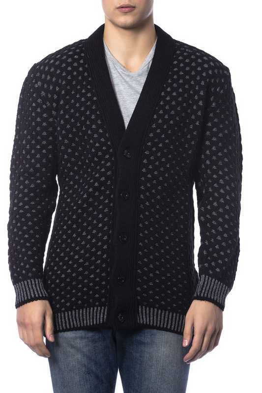 cardigan Gaudi cardigan zip up jaquard sweater cardigan