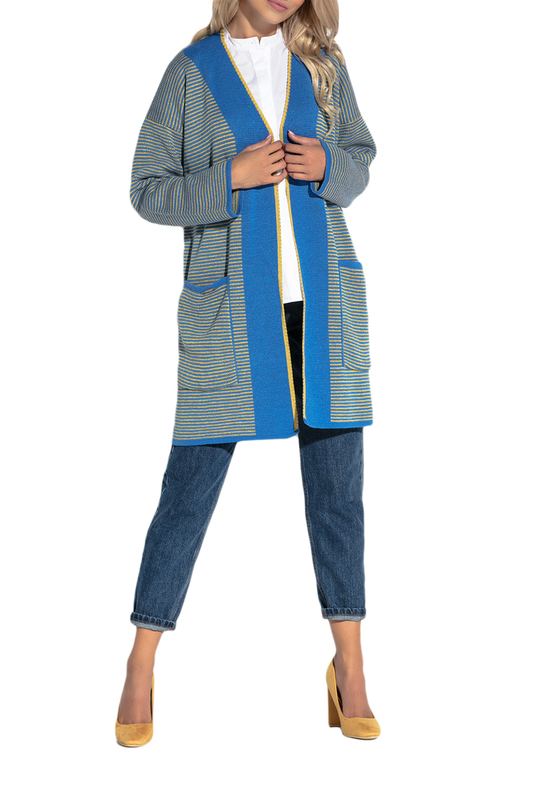 Купить Cardigan FOBYA, Blue, yellow