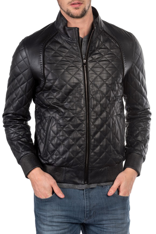 Купить Leather jacket ROCCOBAN, Black
