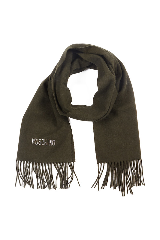 scarf Moschino scarf heart print scarf