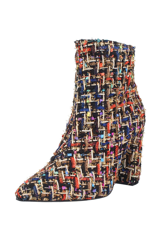 Купить Ankle boots ROBERTO BOTELLA, Black, beige, red