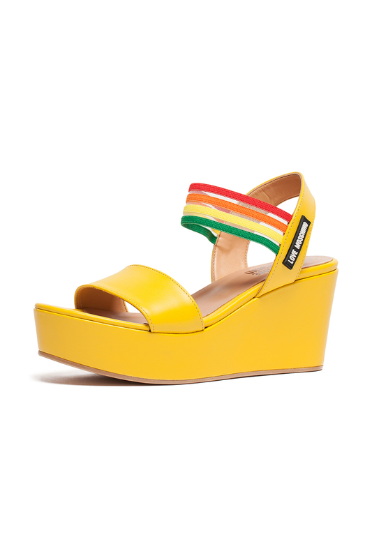 wedge sandals Love Moschino wedge sandals 2018 newest glitter women gladiator sandals wedge peep toe summer transparent beach women s ladies jelly shoes jdd77
