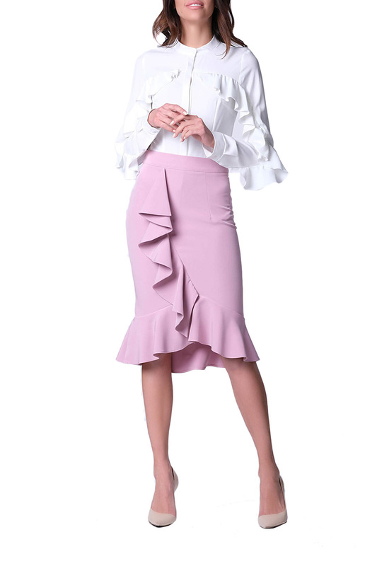 skirt CREENS skirt knot front zip up back skirt