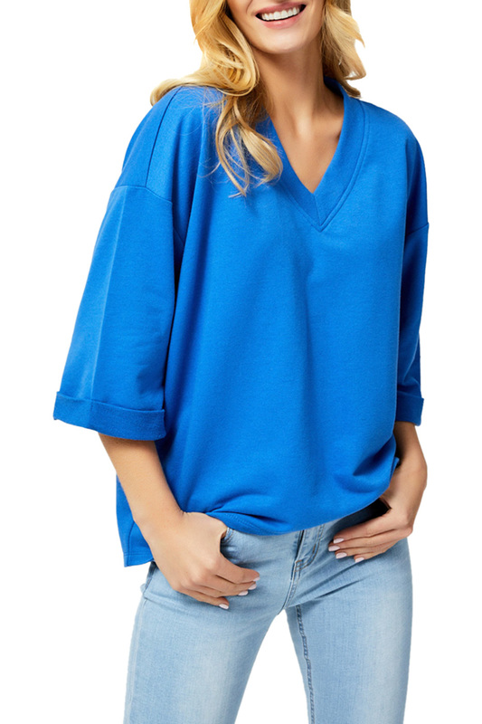 Фото - blouse MOODO blouse striped color block blouse
