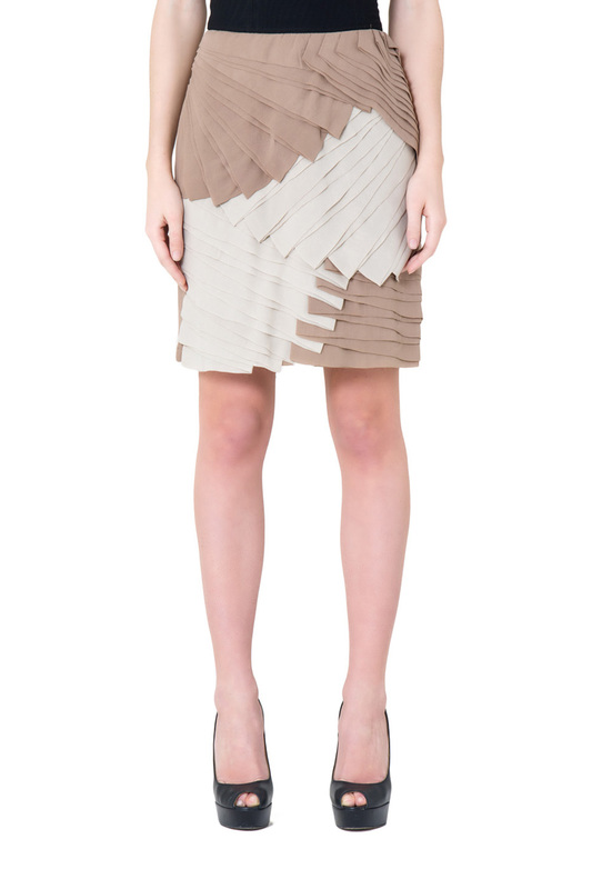 Skirt Gianfranco Ferre Skirt o ring belted frilled skirt